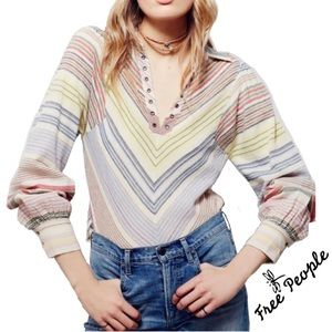 Free People Call My Name Pullover Top